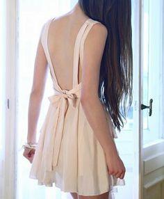 backless nude dress