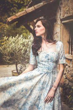 MA BELLE DRESS<br/>toile blue