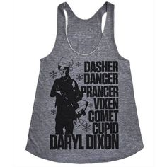 Walking Dead Shirt Walking Dead Tank Top Daryl Dixon Shirt Christmas... ($20) ❤ liked on Polyvore featuring tops, tanks, white, women's clothing, white singlet, racer back tank top, party tanks, holiday tops y white racerback tank