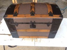 Late 1800's steamer trunk restored.