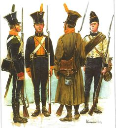 1 & 2Foot Reg. of just formed army of Duchy of Warsaw. That is how the soldiers will appear during the siege of Danzing 1807