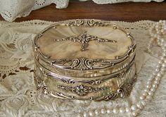 Vintage Music Box Jewelry Box Trinket Box Towle