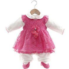 Vestido e Macacão Bia Pink - Beth Bebê