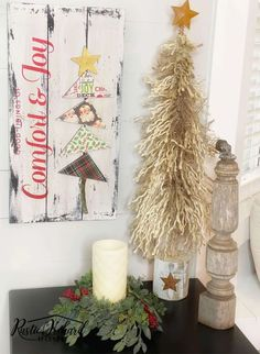 This DIY Comfort Christmas Crafts To Sell, Handmade Christmas Gifts, Christmas Signs, Crafts To Do, All Things Christmas, Christmas Home, Vintage Christmas, Christmas Decorations, Diy Projects To Sell