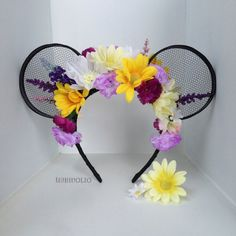 Flower Crown Tangled Rapunzel inspired Mickey by RaspberryOlio, $50.00
