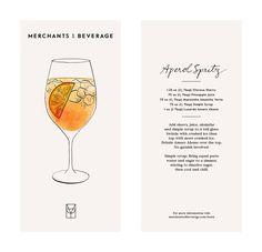 Aperol Spritx recipe // Merchants of Beverage card series