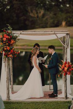 Colorful boho wedding ceremony inspiration | Image by Cody & Allison Photography Bohemian Wedding Inspiration, Boho Wedding, Wedding Blog, Wedding Styles, Wedding Ceremony, Fireworks Show, Wedding Photography, Meet, Colorful