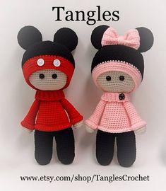 Micky Big Head Doll Amigurumi 15 Tall Ready to Crochet Dolls Free Patterns, Crochet Doll Pattern, Amigurumi Patterns, Amigurumi Doll, Crochet Yarn, Doll Patterns, Crochet Toys, Pattern Ideas, Big Head Baby