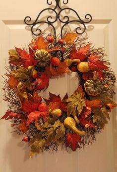 beautiful autumn wreath for your thanksgiving door
