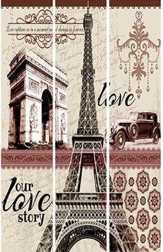 Paraván PARIS - SCONTO NÁBYTOK Provence, Tower, Messages, Paris, Vintage, Rifles, Laminas Para Decoupage, Rook, Montmartre Paris