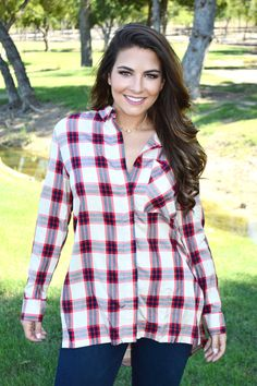 Hometown Plaid Blouse from Shop Southern Roots TX