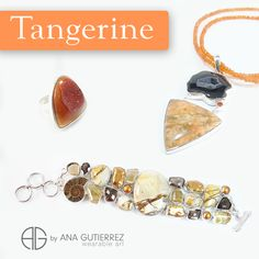 Color trends spring- summer 2015 TANGERINE is an energetic orange hue, stimulating and outgoing, it is a vibrant and bright color, jovial and fun.  Ana Gutierrez Wearable Art. Costa Rican Designer.  Come visit us at Grand Bazaar Shops Las Vegas, find us at space 802. Phone: 702.750.9379...  #color #jewels #tangerine #pantone #desing #CostaRica #fashion #MothersDay #love #gifts #vegas #pendant   #fashionista  #outfit #designers #jewelry #jewels #moda #joyas #designer #lasvegas…