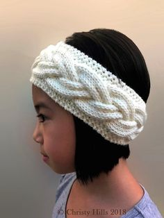 Milky White Cables Headband/Ear Warmer Knitting Pattern Knitting pattern by Christy Hills Crochet Yarn, Knitting Yarn, Baby Knitting, Knitting Patterns, Knitting Ideas, Knit Headband Pattern, Knitted Headband, Knitted Hats, Quick Knits