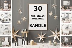 30 CHRISTMAS MOCKUPS. MEGABUNDLE