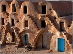 Architecture in Tunisia - photo by Joel Le Montagner.  Look familiar?  Star Wars was filmed here.