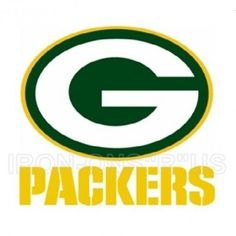 "Green Bay Packers G logo and Yellow Script Iron on NFL Football Sports T Shirt Transfer N2325 - IRON-ONS""R""US™ l Your One Stop IRON-ON Super Shop"