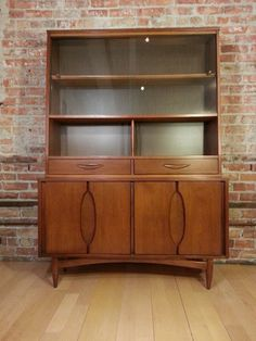 mid century modern china cabinet hutch with splayed legs and rh pinterest com mid century modern china cabinet bassett vintage danish modern china cabinet