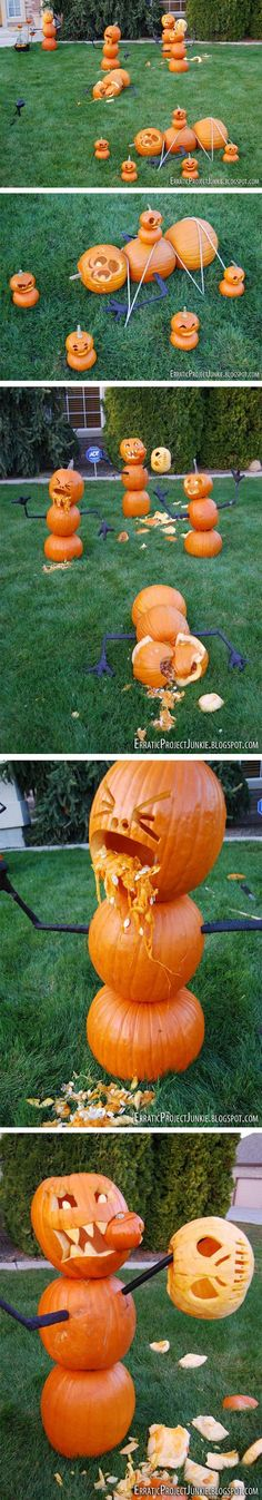 Pumpkin massacre! You got enough sis!