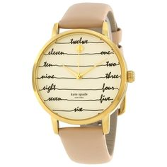 953dc6ccd746a Kate Spade Women s KSW1059  Metro  Calligraphic Brown Watch Cute Watches