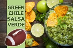 With only 5 main ingredients in this salsa, it is a quick favorite for your tailgating fix. Salsa Verde, Tailgating, Chile, Fruit, Green, Recipes, Food, Recipies, Essen