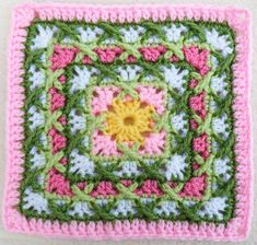 Kiss-Fist square, pattern for sale by Shelby Shea