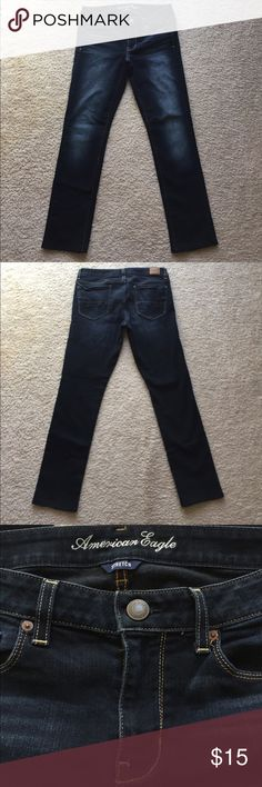 """American Eagle jeans size 12 American Eagle Size 12 stretch skinny jeans. Never worn. Hemmed for length, I'm 5'2"""". Other than that like new! American Eagle Outfitters Jeans Skinny"""