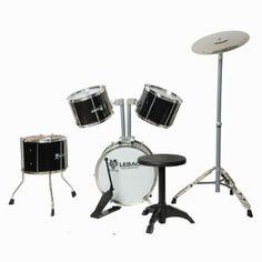 Clearance 9pcs 9010 Metal Jazz Drum Set Black,$99.15