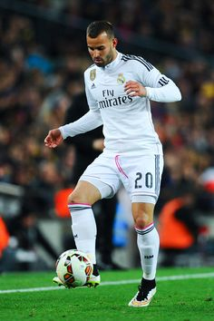 Jese Rodriguez of Real Madrid CF runs with the ball during the La Liga match Between FC Barcelona and Real Madrid CF at Camp Nou on March 22, 2015 in Barcelona, Catalonia.