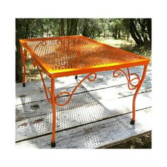 Hey, I found this really awesome Etsy listing at https://www.etsy.com/listing/386724150/wire-end-table-orange-side-table-vintage