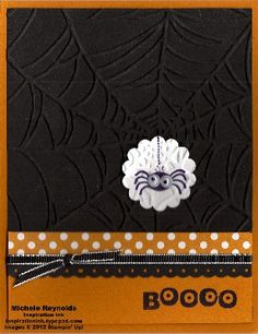 Stampin Up's Googly ghouls stamp set with spider boo watermark