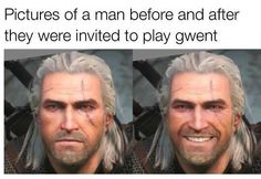 Let's play some cards The Witcher 3, Wild Hunt, Some Cards, Lets Play, Pc Gamer, Einstein, Funny Pictures, Let It Be, Guys