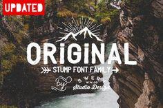 Stump Font Family by bowery_Studio on Creative Market