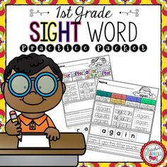 This sight word practice packet is designed to help your students practice all of the Dolch First Grade sight words.