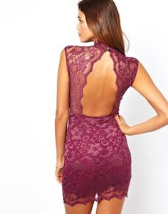 John Zack Mini Dress In Lace With Open Back (I Want This Dress Sooooooooo Bad)