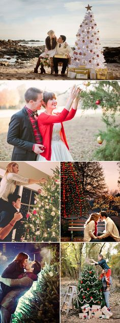 """The greatest Christmas joy comes out of spending quality time with your loved ones to appreciate each other and just to have fun. Remember to capture this love and joy with some memorable Christmas photos to make your holidays more romantic! Here are some sweet Christmas photo ideas for couples who want to say """"we …"""