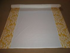 25' Damask Yellow Aisle Runner by Thimbleana on Etsy. Can be made in different colors