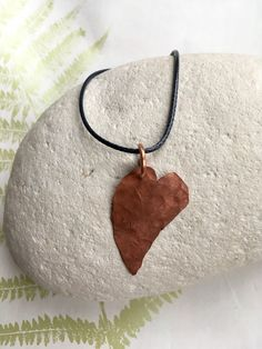 A beaten copper heart necklace from my Etsy shop  #hammeredcopper #copperheart#marieappleyardesigns #loveheartnecklace  https://www.etsy.com/uk/listing/589012182/rustic-copper-necklace-short-copper