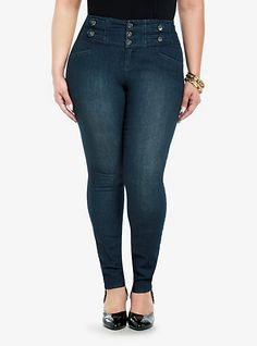 Low rise skinny jeans don't work for me so might give these high waisted Torrid jeans a try.