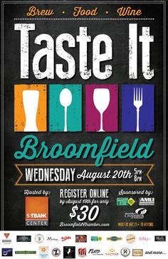 TASTE IT Broomfield! OPEN TO THE PUBLIC, 21 and OVER! - Aug 20, 2014 - Broomfield Chamber of Commerce