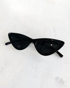 8933b90b8d Slim Retro Cat Eye Sunglasses Black