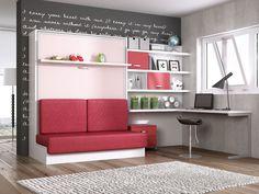 Otra de las grandes ideas para pequeños pisos o apartamentos es este sofá convertible en una amplia cama.