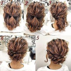 easy+updos+for+medium+hair+curly+bun