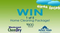CONTEST ALERT: Win 1 of 5 Spring Cleaning Prize Packages – $800 Value! Our colleagues at JoyTV want to send cleaning experts from Molly Maid and Westcoast ChemDry to your house for a thorough 'green' cleaning experience. Click through for details.