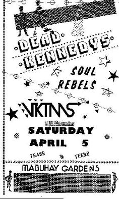Dead Kennedys, Vintage Concert Posters, Concert Flyer, Rock Posters, Flyers, Gardens, Punk, Design, Musicals
