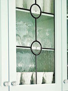 Leaded-Glass Cabinet Doors