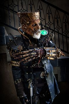"astronautthrowdown: "" Steampunk Frankenstein for the win! """