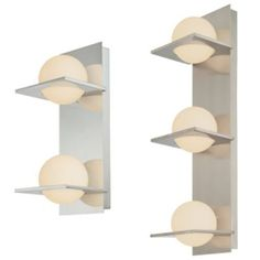 Orbit Vertical Bath Bar - contemporary - bathroom lighting and vanity lighting - Lumens Powder Room Lighting, Exotic Makeup, Contemporary Bathroom Lighting, Bathroom Sconces, Bathrooms, Turn The Lights Off, Vanity Lighting, Interiores Design, Wall Lights
