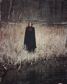 'Upon the Heath of Bedlam' explores a modern and minimalist interpretation of simple medieval garments, as well as the modest dressing of the Puritan settlers of the Photography: Bill Crisafi. Dark Photography, Portrait Photography, Wicca, Creepy, Halloween Photography, Southern Gothic, Season Of The Witch, Witch Aesthetic, Halloween Photos