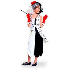 Disfraz de Villana Cruella de Vil para niña #disfraces #carnaval #novedades2017