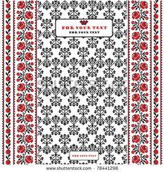 stock vector : label ukrainian style folk background banner